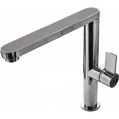 Elleci Materia Single lever kitchen mixer - granitek / inox - cement Design