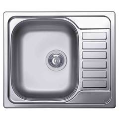 Elleci Sky 125 Stainless steel built-in sink 58 x 50 - right draining board Sky