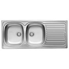 Elleci Osaka 500 Stainless steel built-in sink 116 x 50 - right draining board Osaka