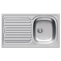 Elleci Osaka 400 Stainless steel built-in sink 86 x 50 - left draining board Osaka