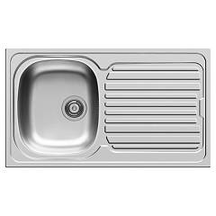 Elleci Osaka 400 Stainless steel built-in sink 86 x 50 - right draining board Osaka