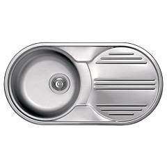 Elleci Special Round 830 83 x 43.5 stainless steel round sink - right draining board Special