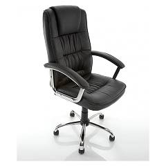 Eurosedia Paul Office chair in metal and leather
