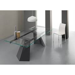 Eurosedia Pechino Extendible table l. 180 x 100 glass top