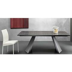 Eurosedia Pechino Extendible table l. 200 x 100 glass top