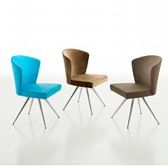 Eurosedia Brenda Chair in metal and fabric / eco-leather