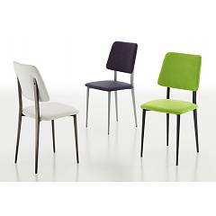 Eurosedia Patty 200 Chair in metal and fabric / eco-leather