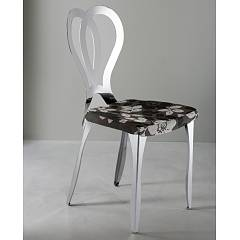 Eurosedia Alyssia 524 Chair in metal and fabric / eco-leather
