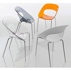 Eurosedia Camilla 296 Chair in metal and polycarbonate