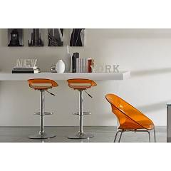 Eurosedia CAMILLA 297 Stool in metal and polycarbonate