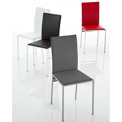 Eurosedia Claudia 279 Chair in metal and leather