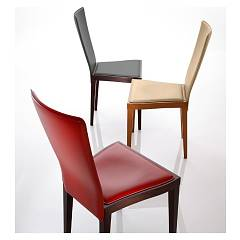 Eurosedia Darlin 194 Chair in wood and leather