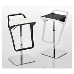 Eurosedia Discovery 061 Stool in metal and technopolymer