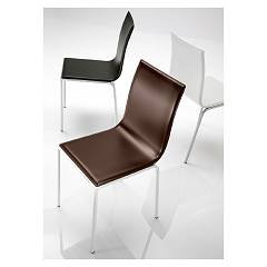 Eurosedia Electra 212 Chair in metal and leather