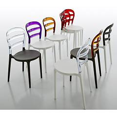 Eurosedia Free 814 Chair in polypropylene and polycarbonate