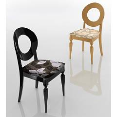 Eurosedia Giulietta 812 Chair in wood and fabric / eco-leather