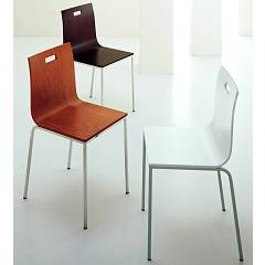 Eurosedia Irene 212 Chair in metal and wood