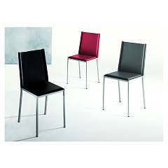Eurosedia Lyz 213 Chair in metal and leather