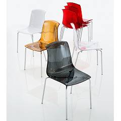 Eurosedia Memory 022 Chair in metal and polycarbonate