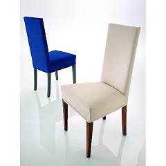 Eurosedia Mimi 046 Chair in wood and fabric / eco-leather