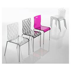 Eurosedia Rebecca 237 Metal and methacrylate chair