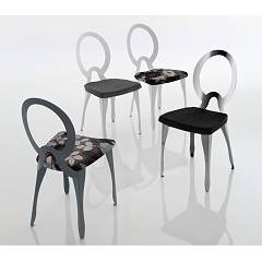 Eurosedia Sofia 291 Chair with structured metal structure