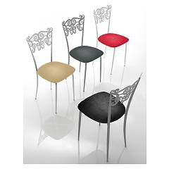 Eurosedia Solaria 288 Chair with structured metal structure