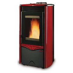 sale Extraflame Nordica Duchessa Idro Steel Wood Pellet Heating Stove 12,0 Kw - Bordeaux Steel Lining