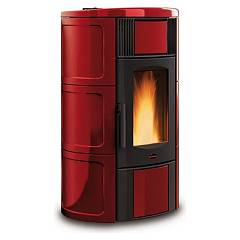 sale Extraflame Nordica Iside Idro 2.0 Wood Pellet Heating Stove 19,0 Kw - Bordeaux Coating Majolica