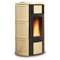 sale Extraflame Nordica Iside Idro 2.0 Wood Pellet Heating Stove 19,0 Kw - Parchment Tiled Coating