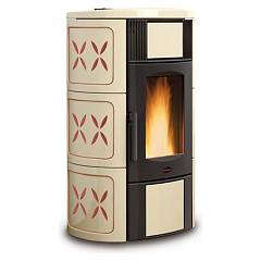 sale Extraflame Nordica Iside Idro 2.0 Wood Pellet Heating Stove 19,0 Kw - Amethyst Tiled Coating