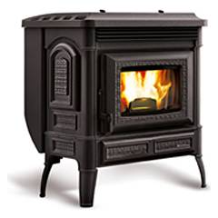 Extraflame Nordica Teodora Pellet stove forced ventilation 8.7 kw - black cast iron covering