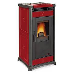 Extraflame Nordica Irma Pellet stove forced ventilation 10.3 kw - bordeaux majolica coating