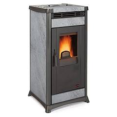 Extraflame Nordica Irma Pellet stove forced ventilation 10.3 kw covering in natural stone