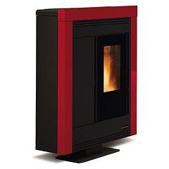 Extraflame Nordica Souvenir Steel Pellet stove forced ventilation 10.2 kw canalized - bordeaux steel cladding