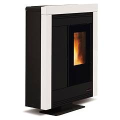 Extraflame Nordica Souvenir Steel Pellet stove forced ventilation 10.2 kw channel - white steel covering