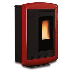 Extraflame Nordica Souvenir Lux Pellet stove forced ventilation 10.2 kw canalized - bordeaux majolica coating