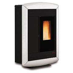 Extraflame Nordica Souvenir Lux Pellet stove forced ventilation 10.2 kw canalized - white majolica coating