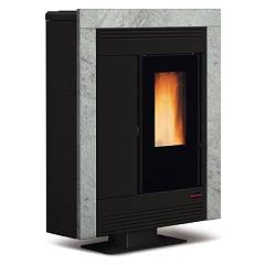 Extraflame Nordica Souvenir Lux Pellet stove forced ventilation 10.2 kw channel natural stone cladding