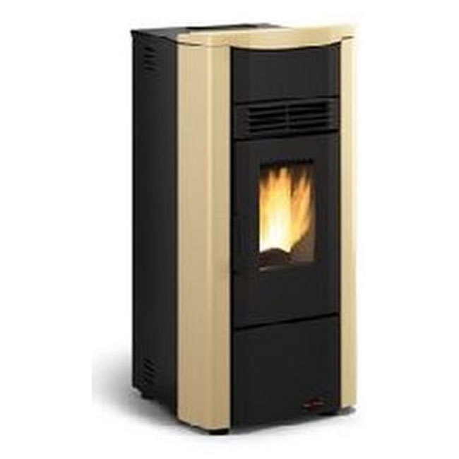 Photos 1: Extraflame Nordica Pellet stove forced ventilation 7,0 kw - parchment the steel - top in majolica GIUSY