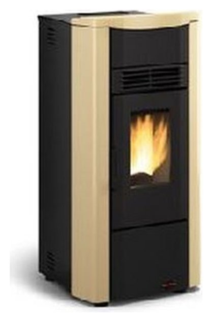 Extraflame Nordica Pellet stove forced ventilation 7,0 kw - parchment the steel - top in majolica GIUSY