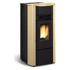 sale Extraflame Nordica Giusy Plus Pellet stove forced ventilation of 8.0 kw ducted - parchment the steel - top in majolica Giusy Plus