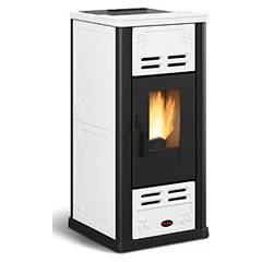 Extraflame Nordica Serafina Pellet stove forced ventilation 7.1 kw - white majolica coating