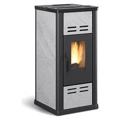Extraflame Nordica Serafina Pellet stove forced ventilation 7.1 kw - natural stone