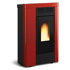 Extraflame Nordica Annabella Pellet stove forced ventilation 8.0 kw channel - bordeaux steel cladding