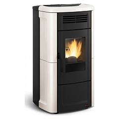 Extraflame Nordica Novella Evo Pellet stove forced ventilation 10.3 kw - ivory majolica covering
