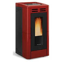 Extraflame Nordica Anastasia Plus Pellet stove forced ventilation 12,0 kw channel - bordeaux majolica coating