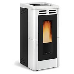 Extraflame Nordica Anastasia Plus Pellet stove forced ventilation 12.0 kw channel - white majolica coating