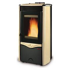 Extraflame Nordica Duchessa Idro Steel Pellet thermoster 12.0 kw - parchment steel coating