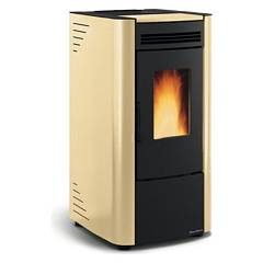 Extraflame Nordica Ketty Evo Pellet stove forced ventilation 6.5 kw parchment - steel cladding